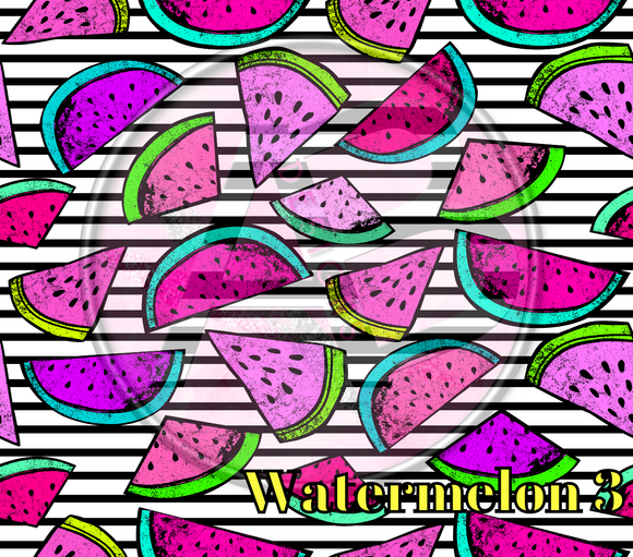 Adhesive Patterned Vinyl - Watermelon 3