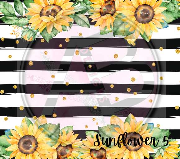 Adhesive Patterned Vinyl - Sunflower 5