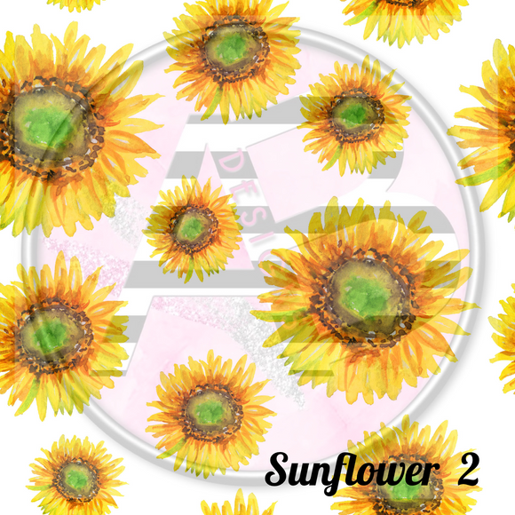 Adhesive Patterned Vinyl - Sunflower 2