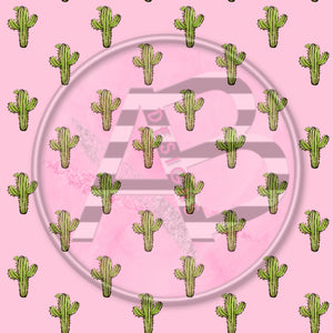 Adhesive Patterned Vinyl - Cactus 85