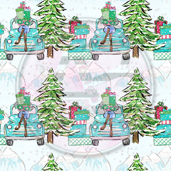 Adhesive Patterned Vinyl - Christmas 212