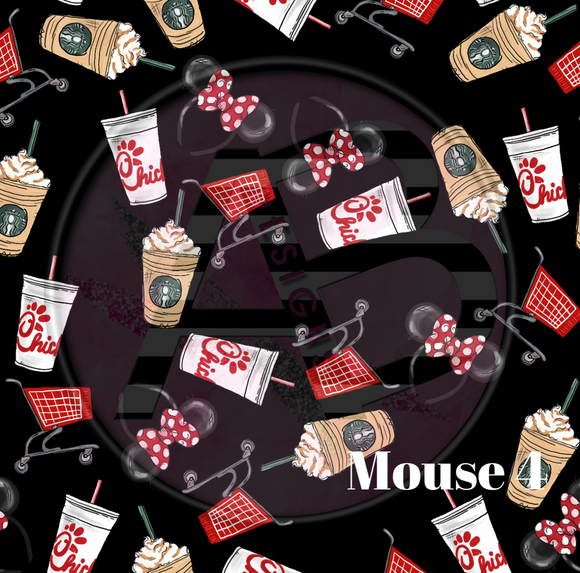 Adhesive Patterned Vinyl - Mouse 4