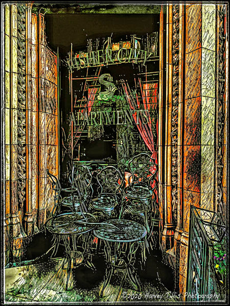 Fisher Building Window With Table And Chairs