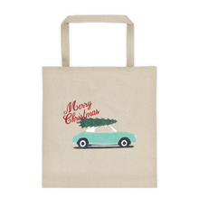 Load image into Gallery viewer, Figaro Vintage Look Christmas Tote Bag