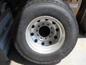 ALCOA 22.5 WHEEL AND TIRE