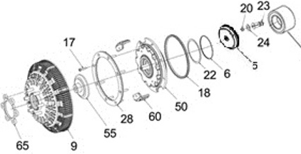 FAN CLUTCH KIT - 995582H0R