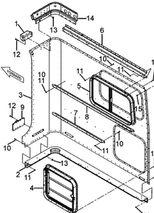 RH Sleeper Side Wall Assembly w/ Window