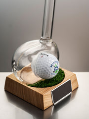 Empty Golf Club Refillable Gin Decanter with Optional Message Plaque