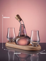 Mini Post Still Gin Decanter with two glasses