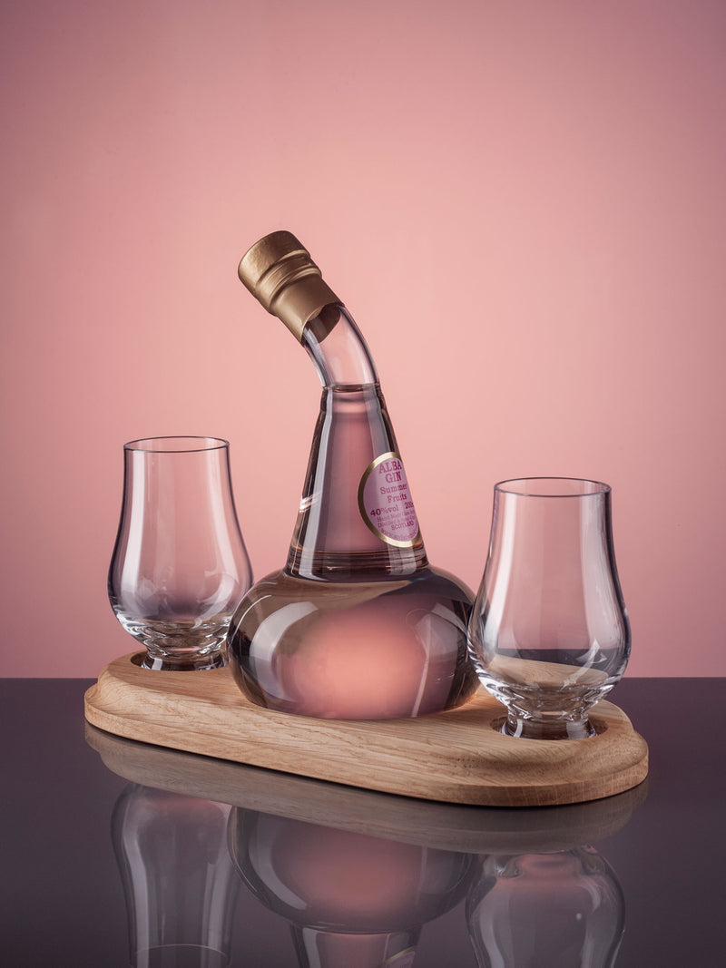 Unique mouth-blown Barrel Gin Decanter