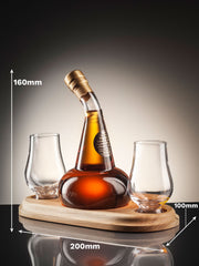 Post Still Whisky Decanter with two glasses