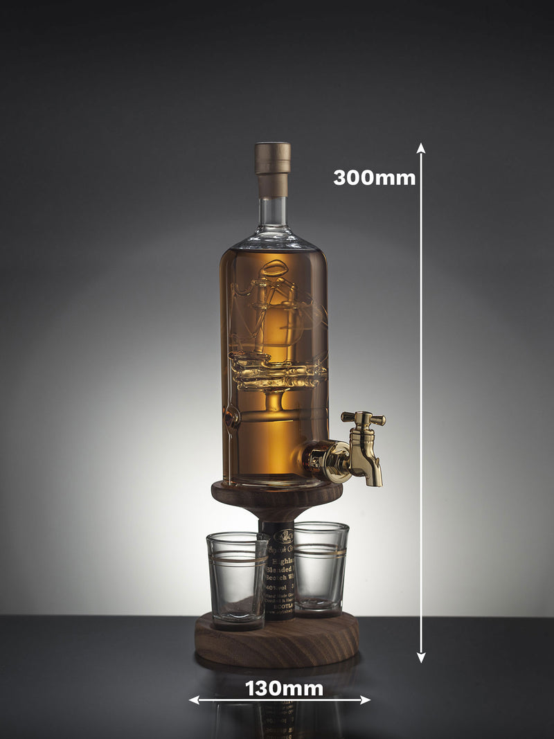 Glass Galleon Inside Whisky Decanter