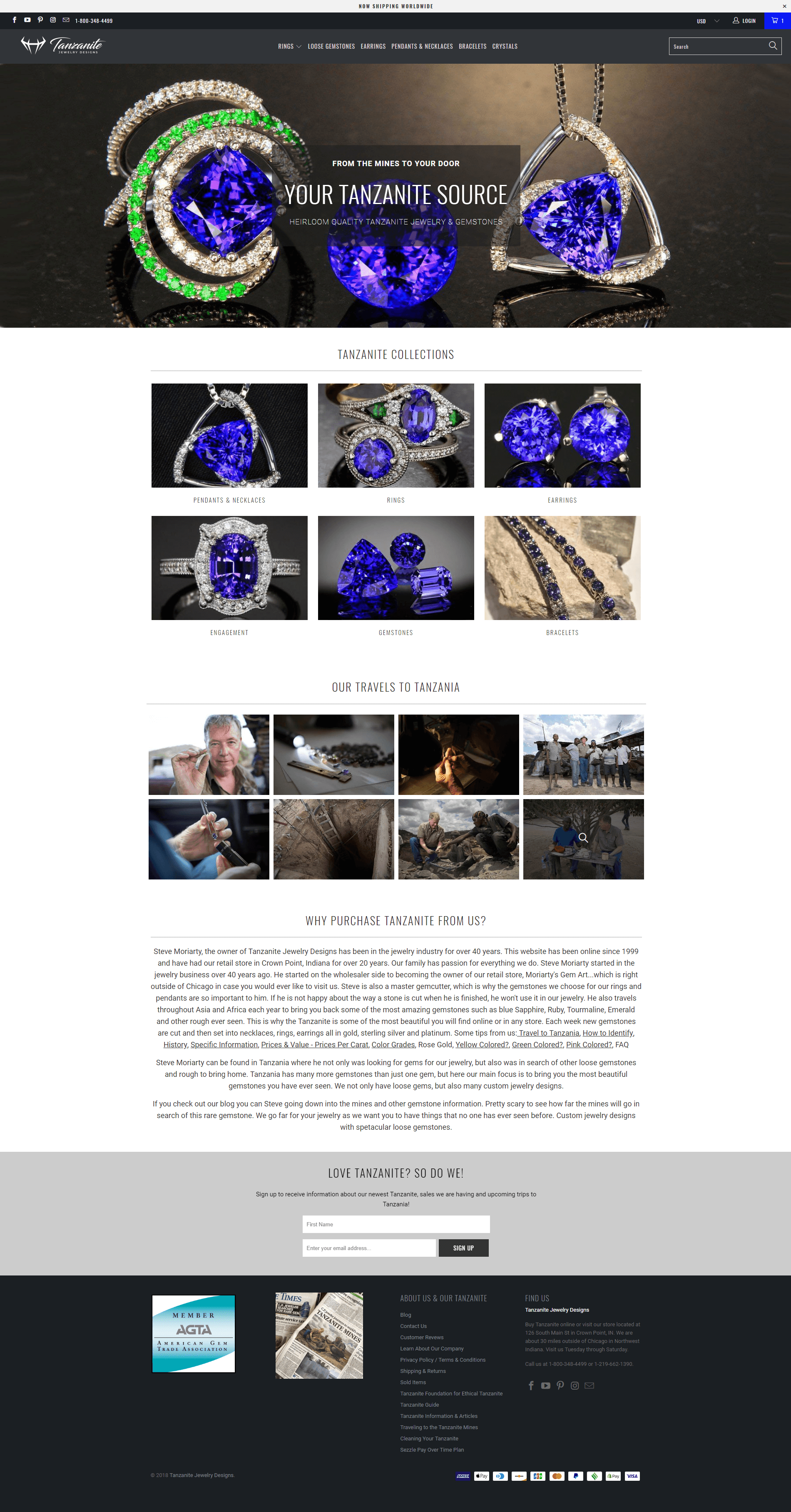Tanzanite Website