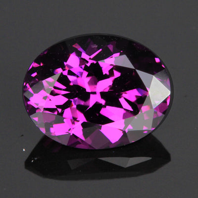 Purple Oval Step Cut Garnet Gemstone 2.82 Carats