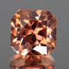 Imperial Zircon 3.70 Carat Square Brilliant