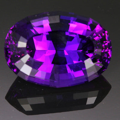 Purple Oval Brilliant Cut Amethyst Gemstone 61.85 Carats