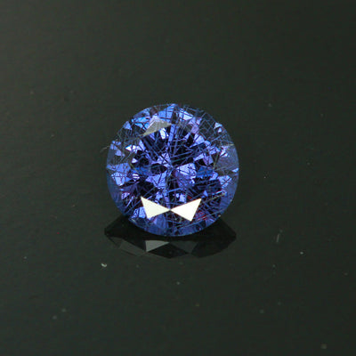 Red to Blue Green Round Cut Alexandrite-Like Garnet Gemstone  1.55 Carats