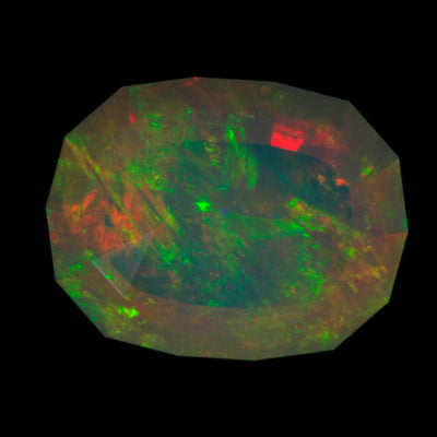 Faceted Welo Opal Weighs 9.24 Carats