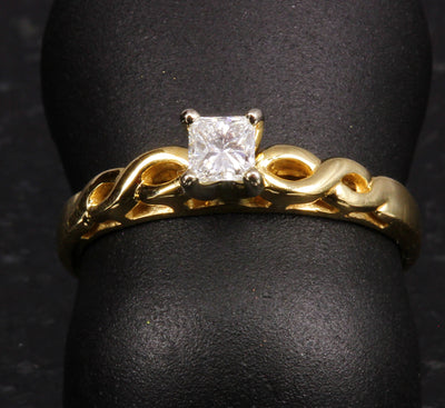 Ladies' 14K Yellow Gold Diamond Ring .25 Carat
