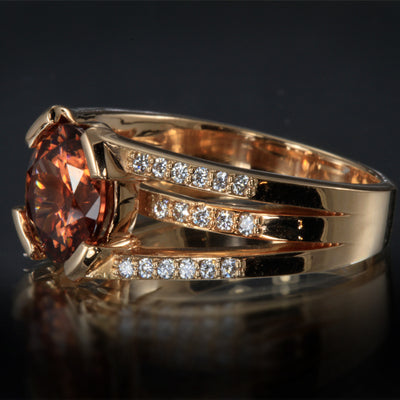 Imperial Zircon Ring in Rose Gold