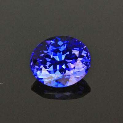 Violet Blue Oval Tanzanite Gemstone 2.29 Carats