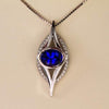 14K White Gold Tanzanite and Diamond Pendant 2.02 Carats Designed by Christopher Michael