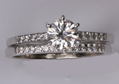 White Gold Engagement Ring for Any Shape or Size Diamond