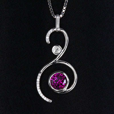 Purple Garnet Pendant