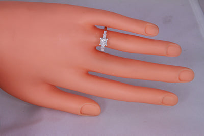 Princess Engagement Ring by Christopher Michael