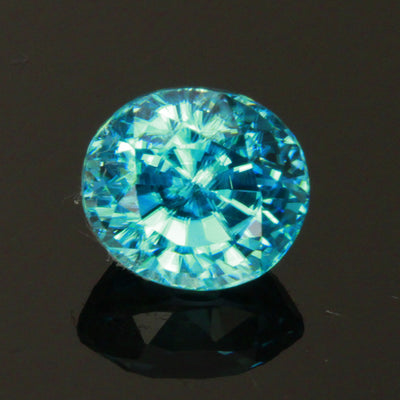 Blue Zircon Oval 2.35 Carats