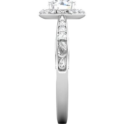 1ct Intricate Halo Diamond Semi-Mount