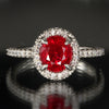 Platinum Burma Ruby Ring