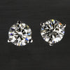 Diamond Round  Stud Earrings 1.00 Carats