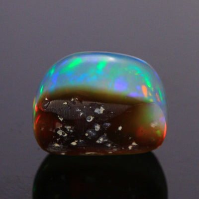 Vivid Colors Loaf Cut Cabochon Welo Opal Gemstone 11.15 Carats