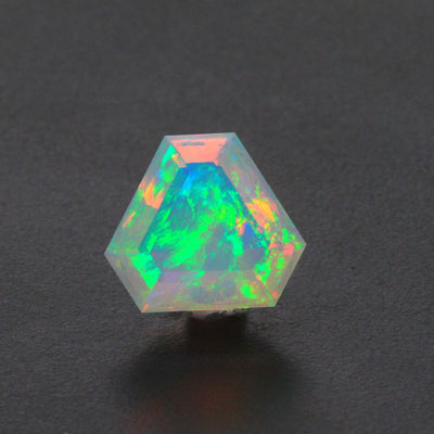Faceted Triangle Welo Opal Gemstone 5.09 Carats