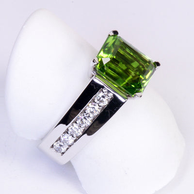 Peridot Ring Designed By Christopher Michael 4.40 Carat