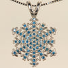 Snowflake Pendant with Blue Diamonds