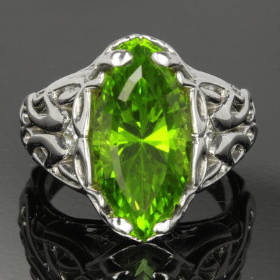 Peridot ring custom design