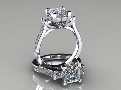 Diamond Bridal Set Designed By Christopher Michael