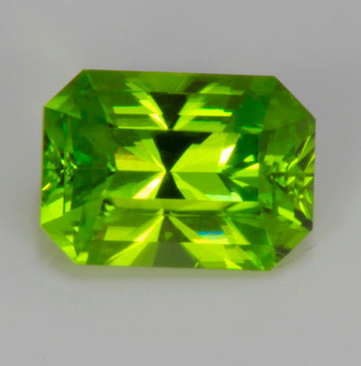 Peridot Brilliant Emerald Cut 3.48 Carats