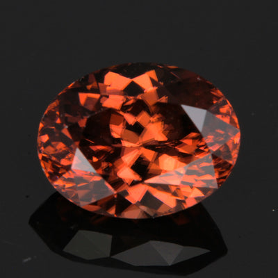 Pink/Brown Oval Zircon Gemstone 5.21 Carats