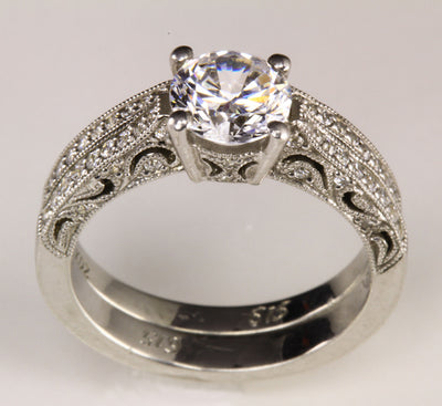 Ladies' Diamond Round Brilliant Diamond Engagement Set