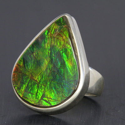 Ammolite Ring in Sterling Silver