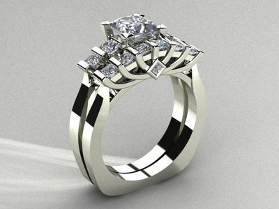 Engagement Ring Set Designed By Christopher Michael