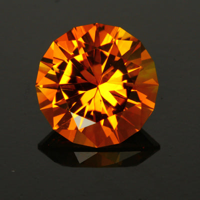 Yellow/Orange Round Brillant Cut Citrine Gemstone 5.90 Carats