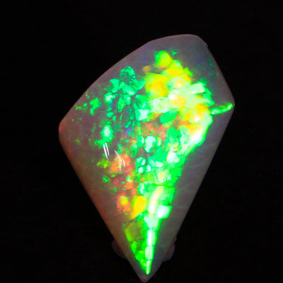 Dramatic Colors Freeform Opal Gemstone  From Welo Ethiopia 16.88 Carats
