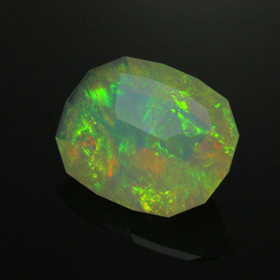 Rainbow Colors Faceted Welo Opal Gemstone 9.24 Carats