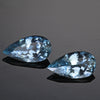 Matched Pair of 2.27ct Pair Shape Brilliant Cut Aquamarine