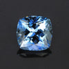 Blue Square Cushion Cut Aquamarine Gemstone 3.22 Carats