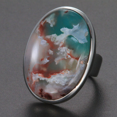 Sterling Silver Aquaprase Ring